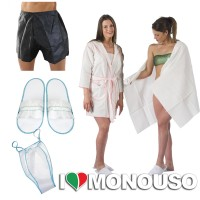BATHROBE,BATH TOWEL,SLIPPERS,SLIP TEST KIT FOR SPA KIT.1179