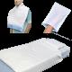 kit prova prodotti monouso lenzuola e federa in tnt per letto singolo bavaglio con tasca e manopola a secco e presaponata