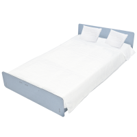 1 Disposable Night Kit Plus, 2 Pillowcases and 2 bedsheets for double bed made of soft Ecological and Biodegradable Bamboo Fiber