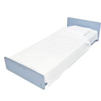 6 Disposable Single Bed NIGHT KIT made of Soft, Ecological, and Biodegradable Bamboo Fiber