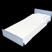set per letto singolo monouso in morbida viscosa ecologica e biodegradabile 2 lenzuola e 1 federa