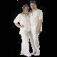 4 PIGIAMI Monouso Eco-Bio Unisex con Casacca e Pantaloni varie taglie