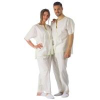 Bio Einweg Pijama Unisex mit Tunika und Hose in verschiedenen Größen