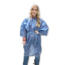 80 Kimono Monouso Traspirante fabbricato in Tessuto Non Tessuto di colore Blu